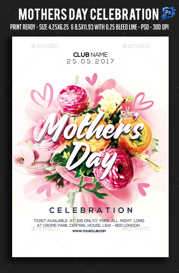 Mothers day Celebration Party Flyer - Clubs & Parties Events