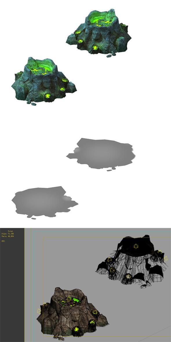 Game Models - poison Valley Scene - poison Stone - 3DOcean Item for Sale