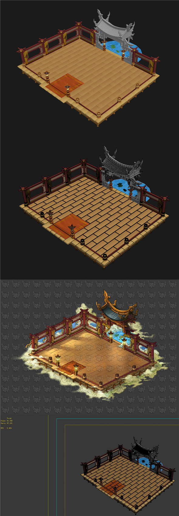 Game Model - Ancient Chinese Architecture - 3DOcean Item for Sale
