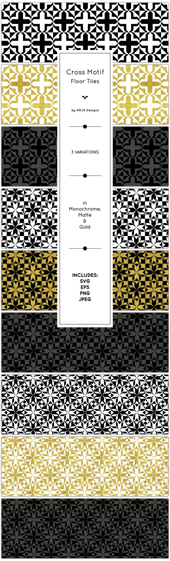 Cross Tile Patterns - Textures / Fills / Patterns Illustrator