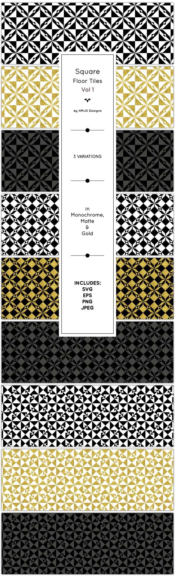 Classic Floor Tile, Vol 1 - Textures / Fills / Patterns Illustrator
