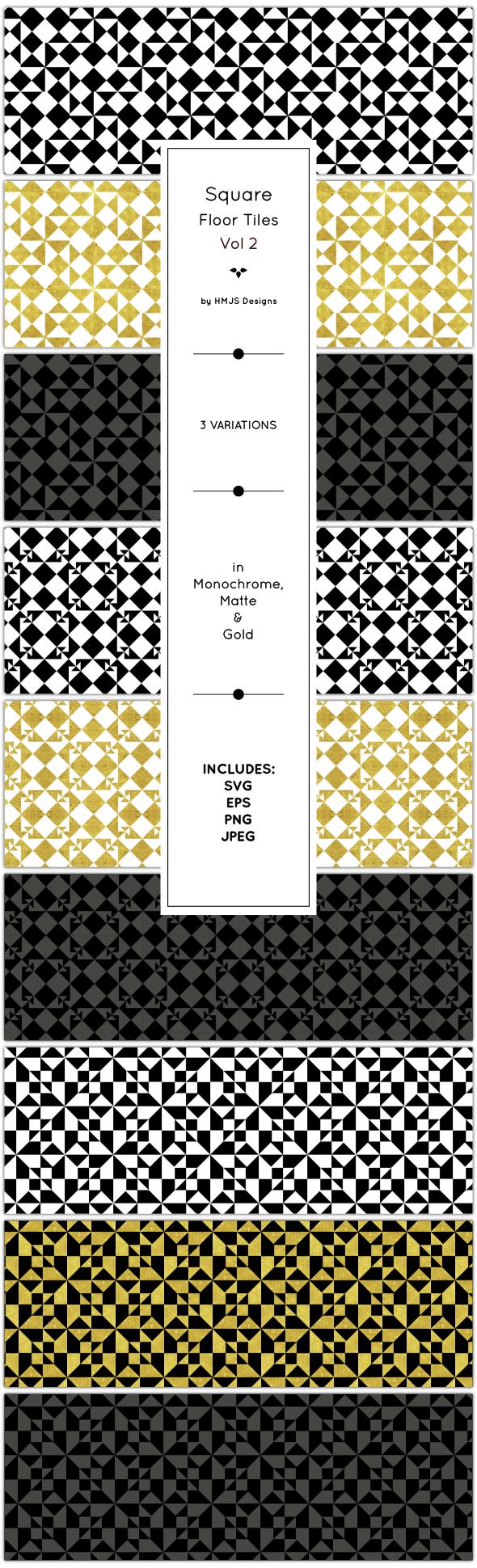 Classic Floor Tiles, Vol 2 - Textures / Fills / Patterns Illustrator