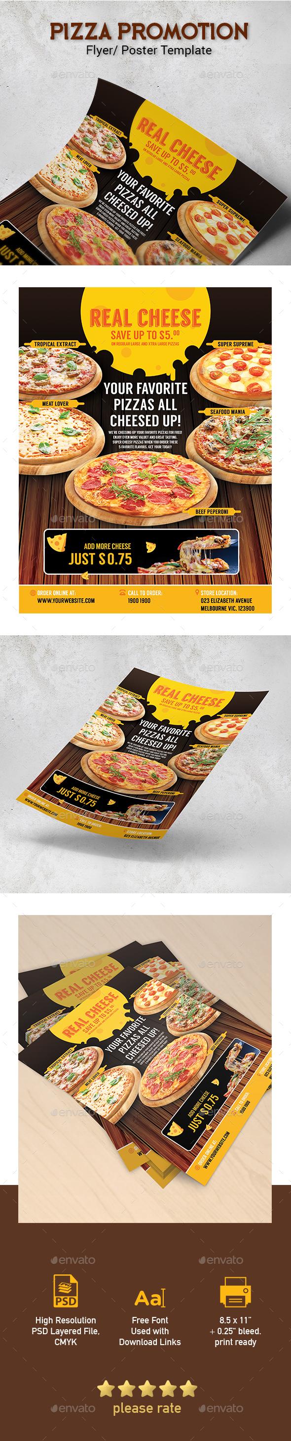 Pizza Menu Restaurant Promotion Template for Poster / Flyer - Restaurant Flyers