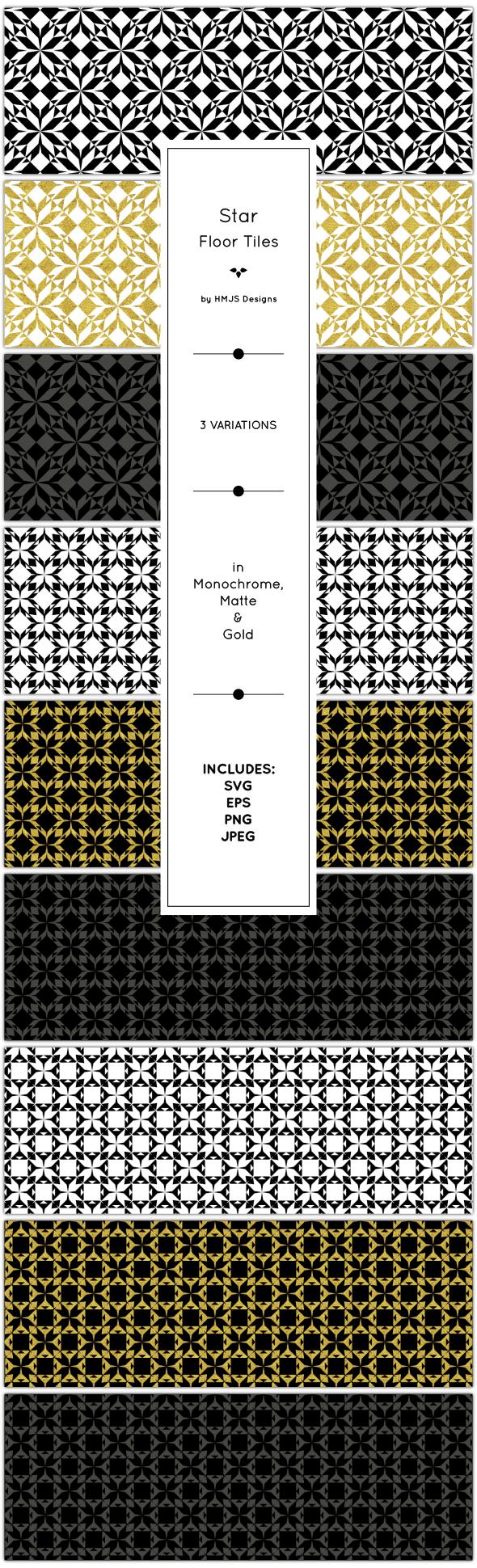 Star Floor Tiles - Textures / Fills / Patterns Illustrator