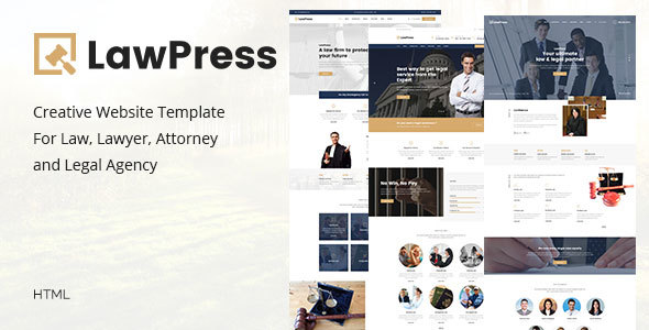 LawPress Html - Creative Website Template For Law, Lawyer, Attorney and Legal Agency - Site Templates