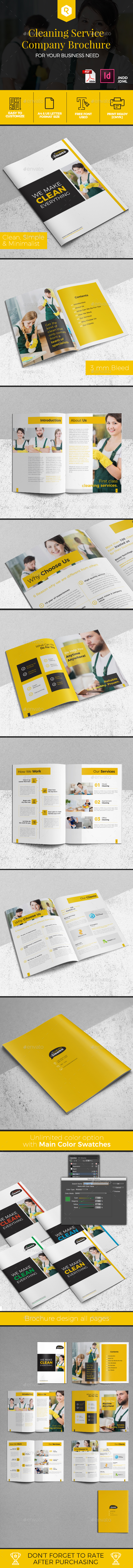 Cleaning Service Company Brochure - Corporate Brochures