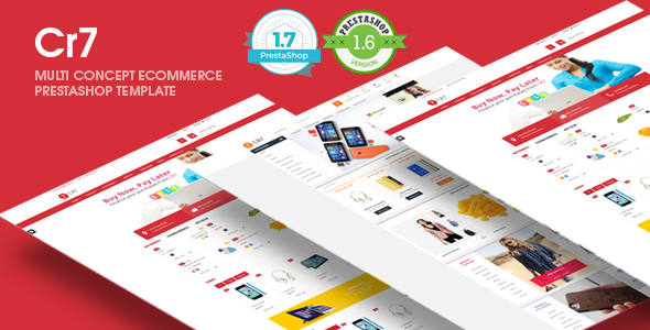 Cr7 Responsive Prestashop 1.6, 1.7  Theme