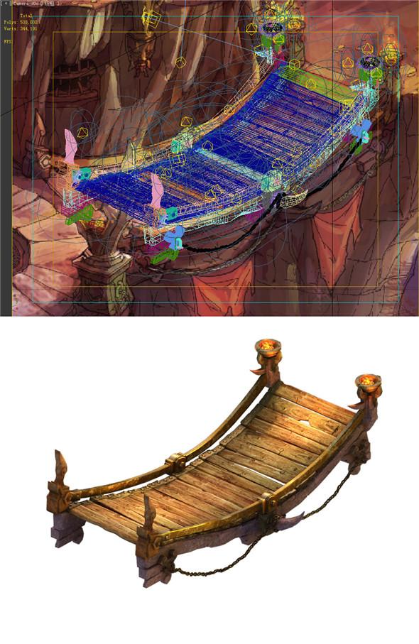Built on cliff religious altar Zoroastrianism cable bridge 01 - 3DOcean Item for Sale