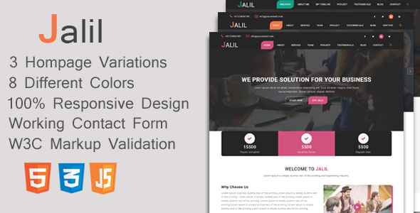 Jalil – OnePage MultiPurpose Template