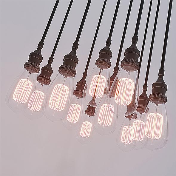 Vintage light bulbs - 3DOcean Item for Sale