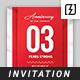 Anniversary Invitation Template - GraphicRiver Item for Sale