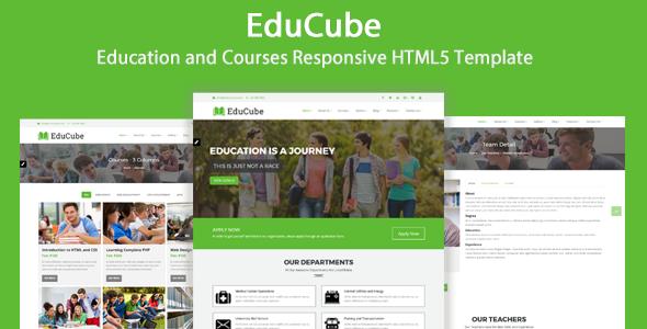 EduCube - Education and Courses Responsive HTML5 Template - Nonprofit Site Templates