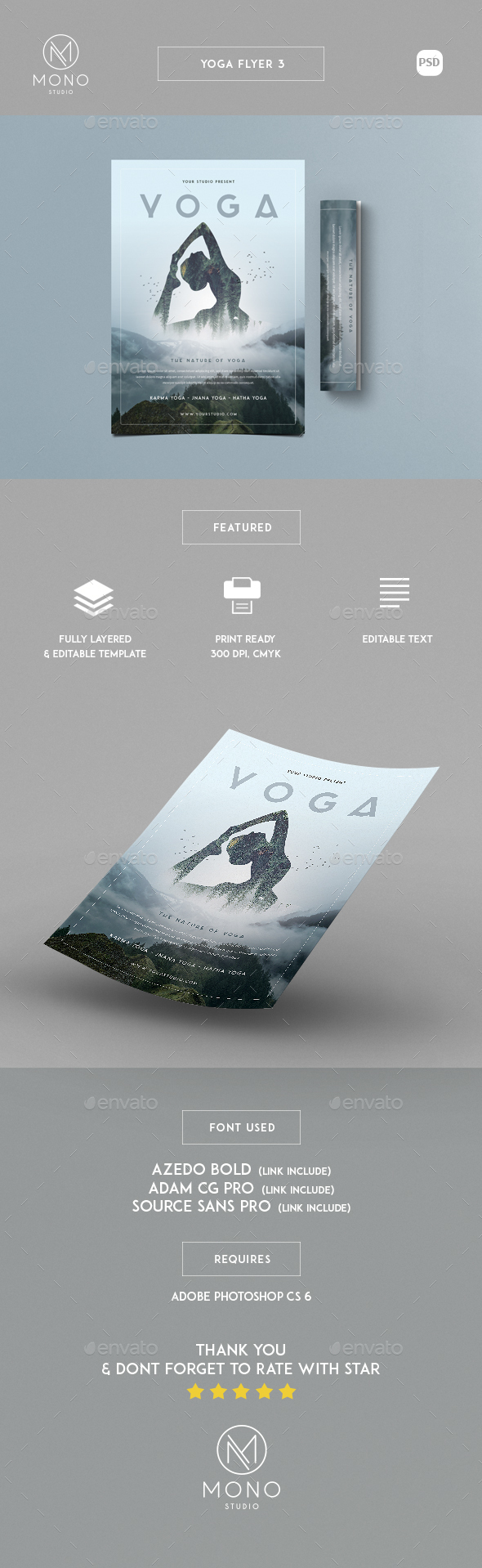 Yoga Flyer 3 - Sports Events