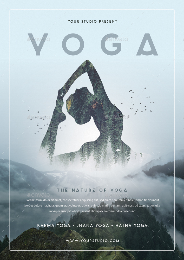 Yoga Flyer  By Monogrph  Graphicriver