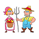 Funny Couple of Farmers. - GraphicRiver Item for Sale