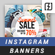 Promotional Instagram Banners - GraphicRiver Item for Sale
