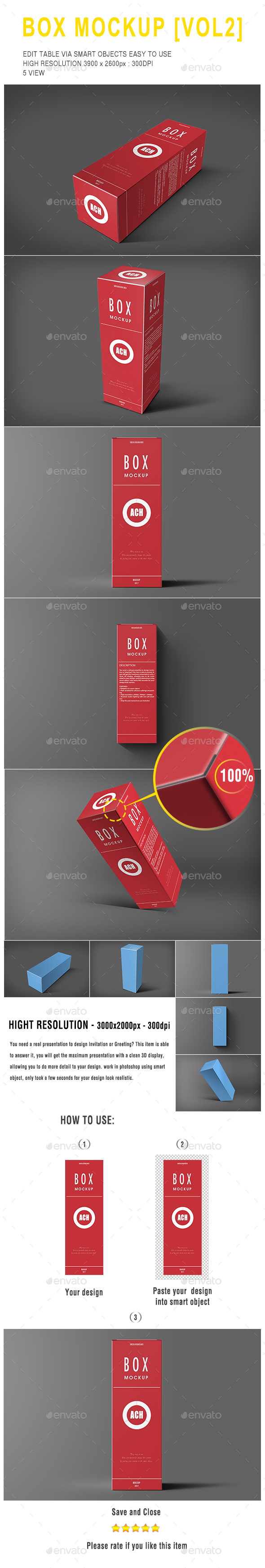 Box Mockup [Vol 2] - Packaging Product Mock-Ups