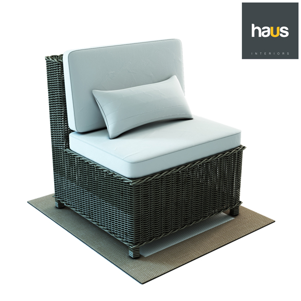 Haus Interior Armchair made of woven rattan - 3DOcean Item for Sale
