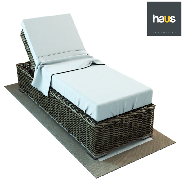 Haus Interior Single Woven Chaise-longue - 3DOcean Item for Sale