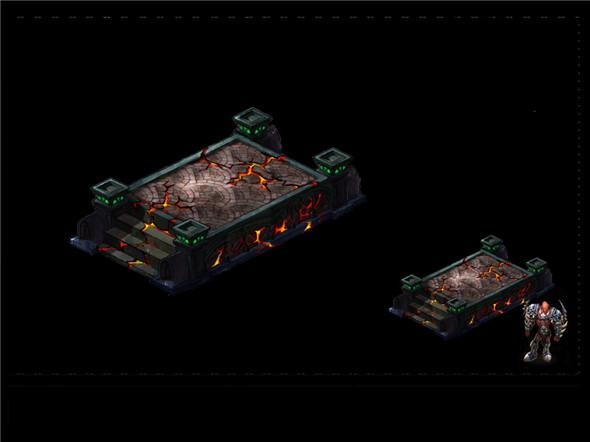 Game Arena test piece model - District nest 01 - 3DOcean Item for Sale