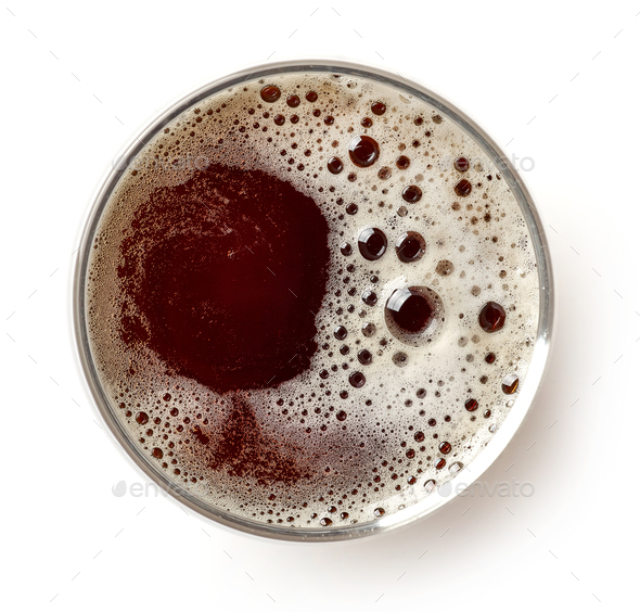 glass of dark beer - Stock Photo - Images