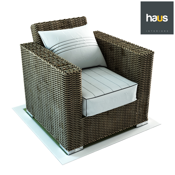 Woven Armchair Haus Interior - 3DOcean Item for Sale
