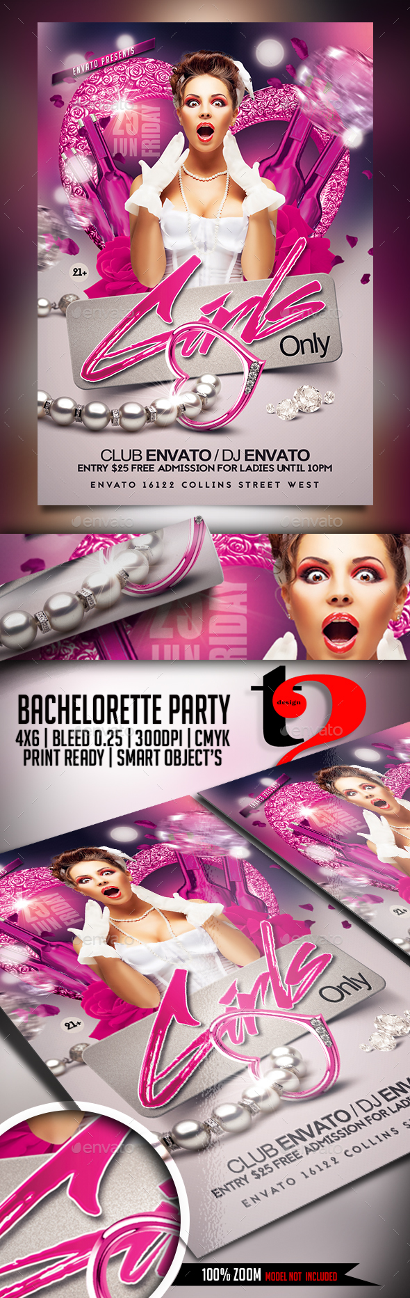 Bachelorette Party - Girls Night Party Invitation - Clubs & Parties Events