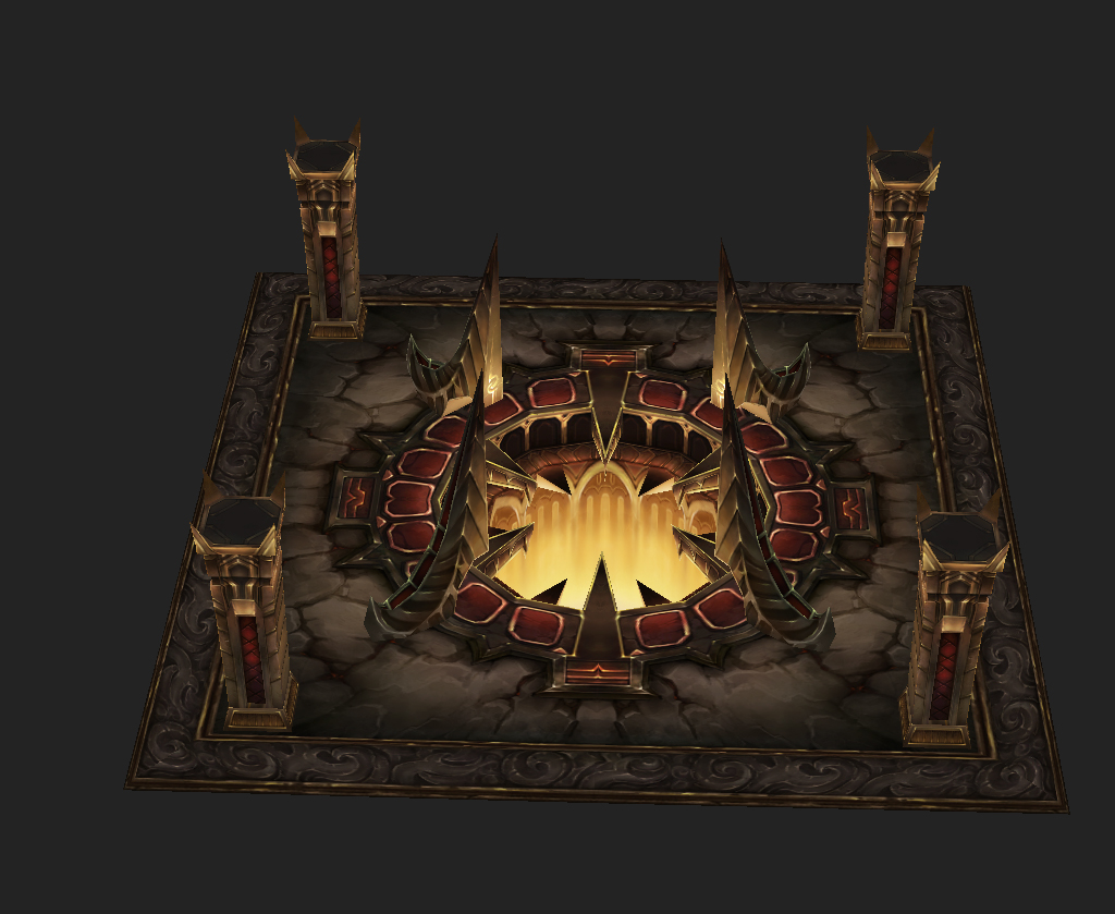 Game Arena test scenario model - Heart of Town 01