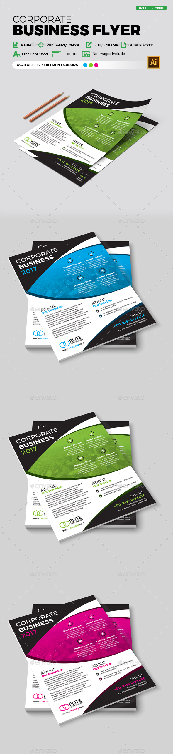 Flyer – Multipurpose 313 - Flyers Print Templates