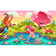 Fantasy Scene with Mermaid and Animals - GraphicRiver Item for Sale