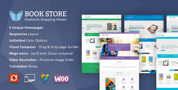 Book Store WordPress WooCommerce Theme