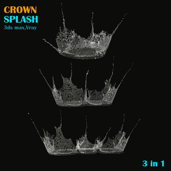 Crown Splash Pack - 3DOcean Item for Sale