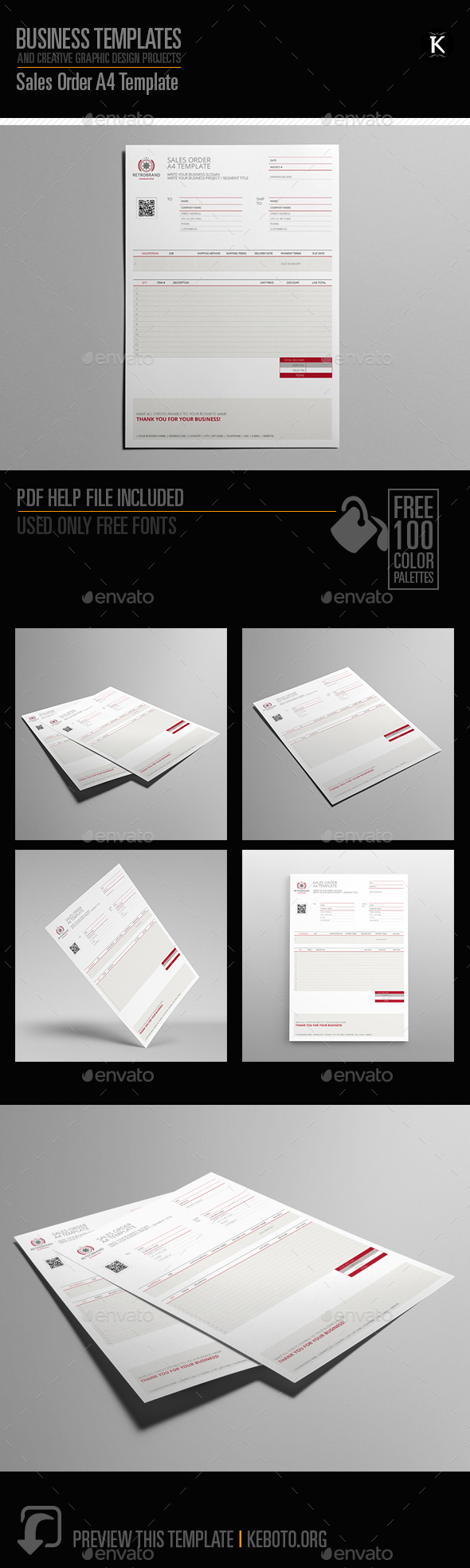 Sales order a4 template by keboto graphicriver sales order a4 template miscellaneous print templates wajeb Image collections