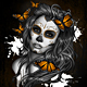 Sugar Skull Girl Tattoo - GraphicRiver Item for Sale