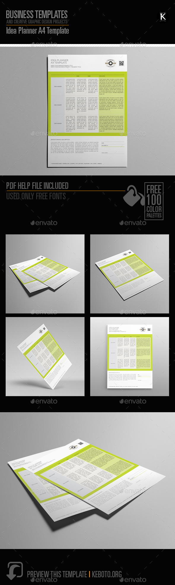 Idea Planner A4 Template - Miscellaneous Print Templates