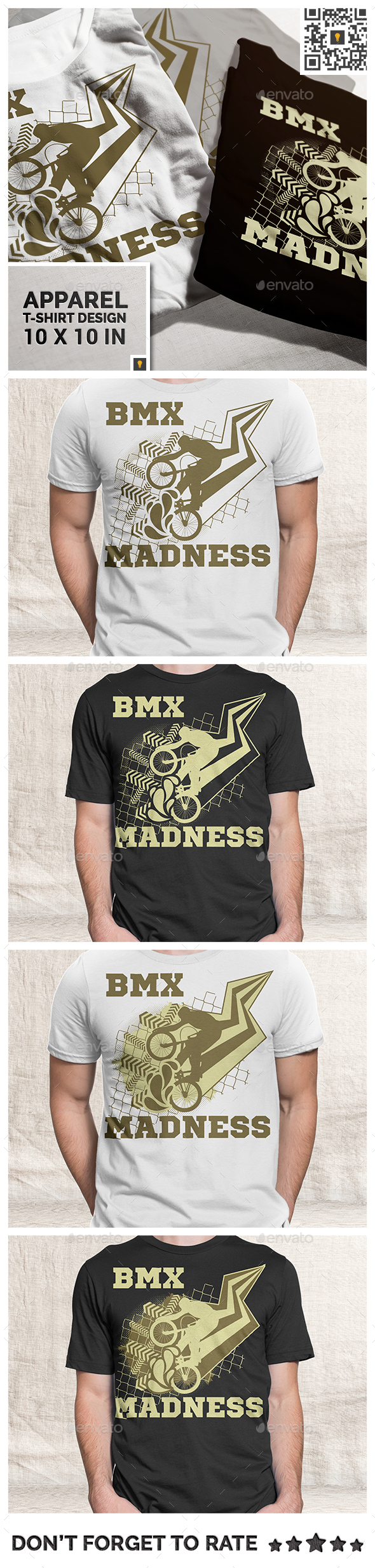 BMX Madness Theme T-shirt Design - Sports & Teams T-Shirts