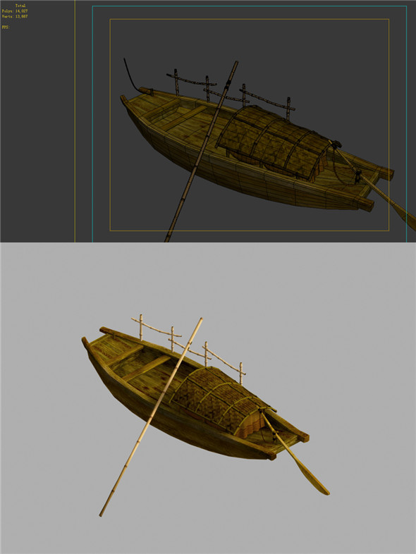 Game Model - Campanula island scenes - boat 01 - 3DOcean Item for Sale