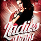 Ladies Night Flyer template V1 - GraphicRiver Item for Sale