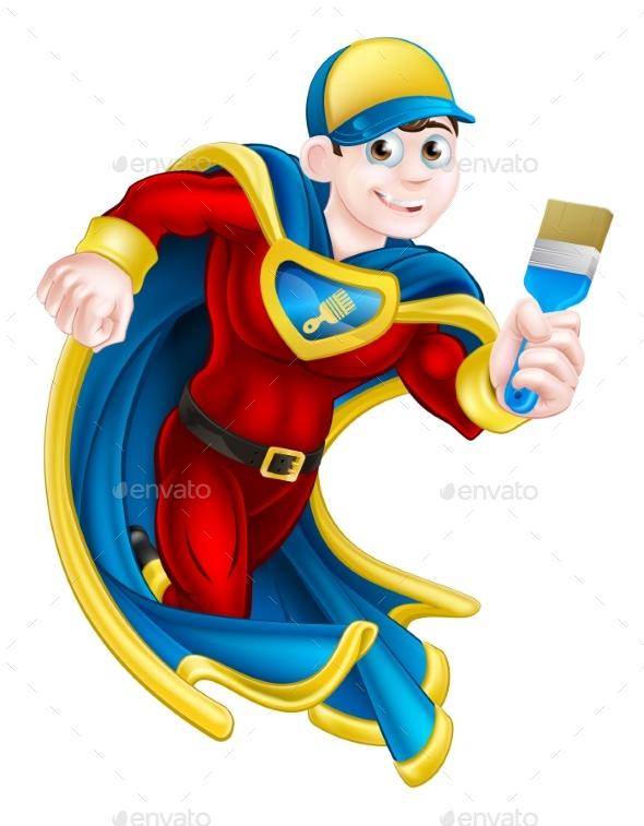 Painter Decortator Super Hero - People Characters