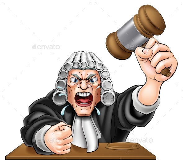 Cartoon Angry Judge - People Characters