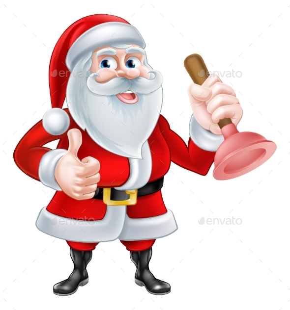 Santa Plumber - Christmas Seasons/Holidays