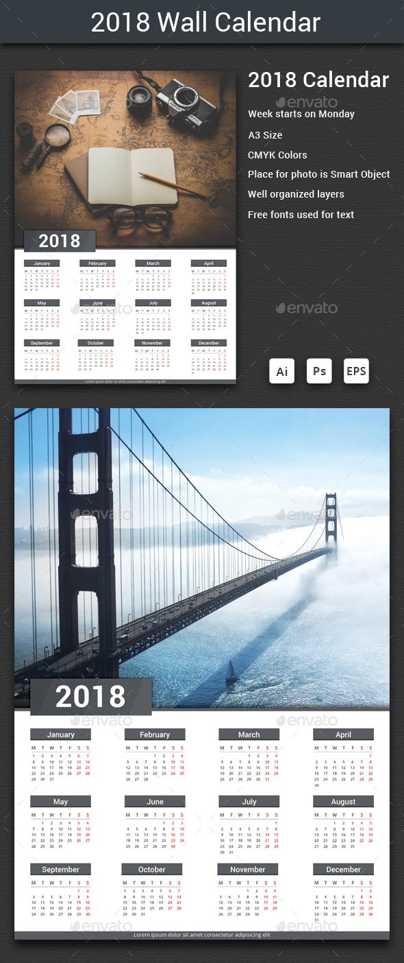 2018 Calendar - Calendars Stationery