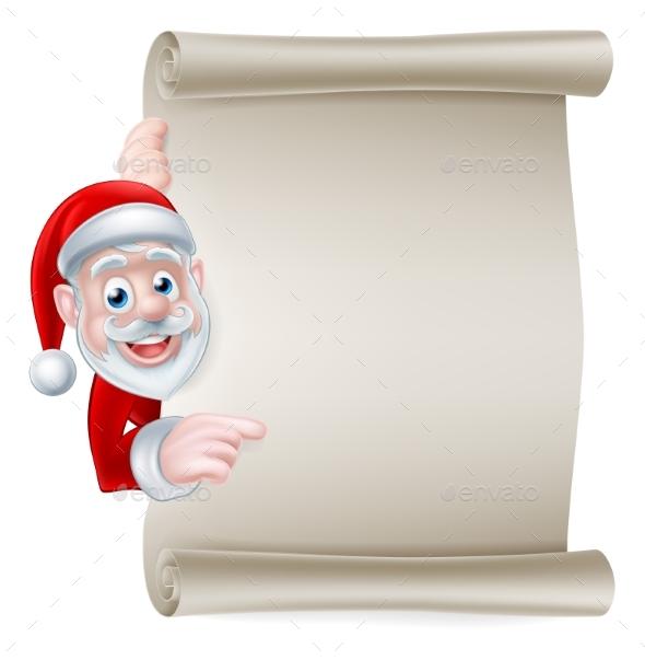Santa Scroll Banner - Christmas Seasons/Holidays