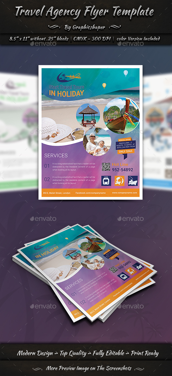 Travel Agency Flyer Templates - Commerce Flyers