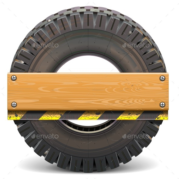Board with Truck Tire - Industries Business