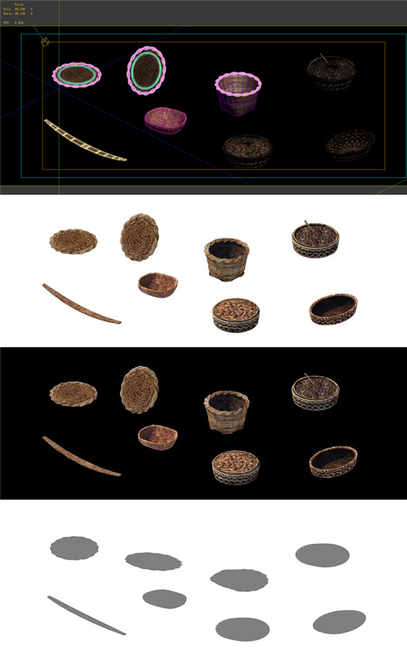 Game Model - prairie scene - agricultural tools of small objects 02 01 - 3DOcean Item for Sale