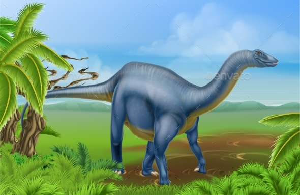 Diplodocus Dinosaur - Animals Characters