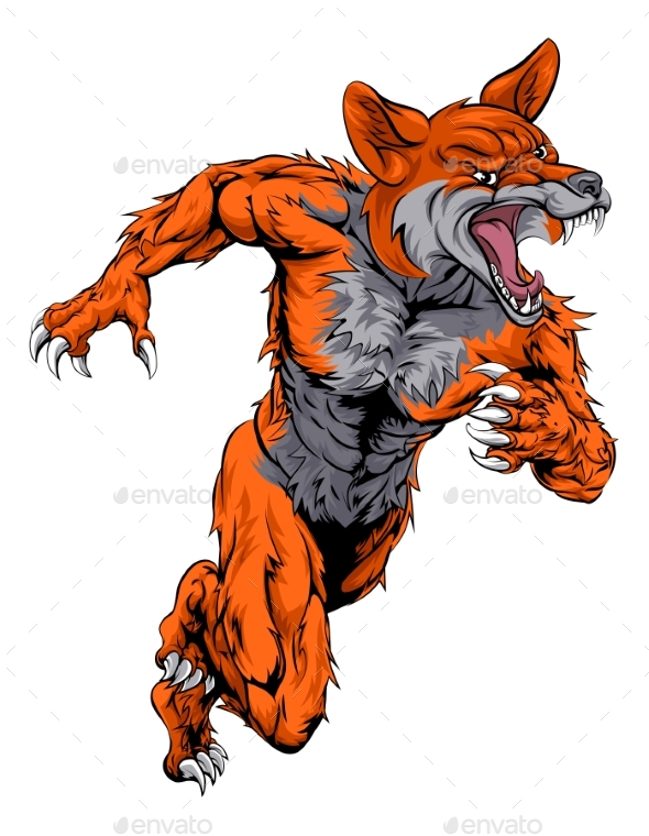 Fox Sports Mascot Running - Animals Characters