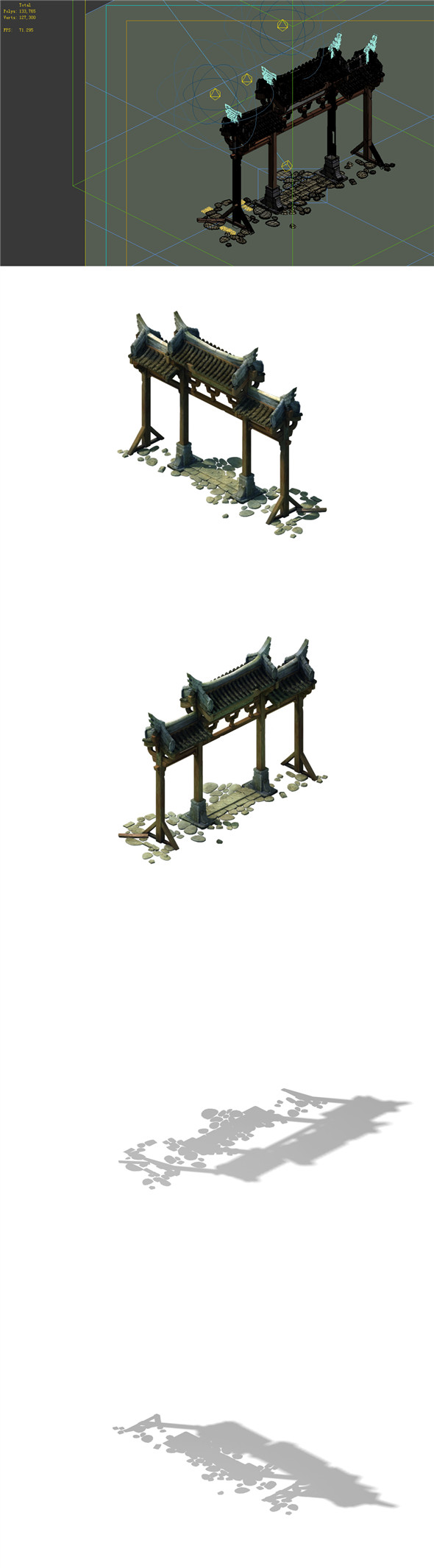 Game Model - prairie scene - archway 01 - 3DOcean Item for Sale
