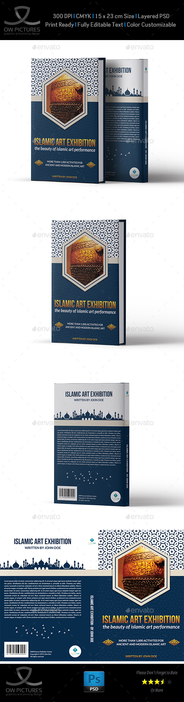 Islamic Book Cover Template - Miscellaneous Print Templates